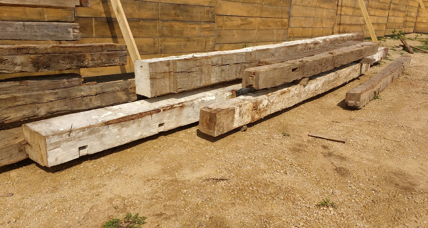 reclaimed white oak beams